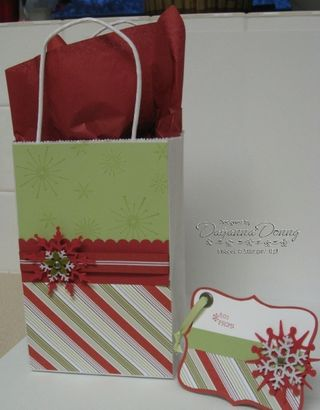 Christmas Gift Bag and Tag