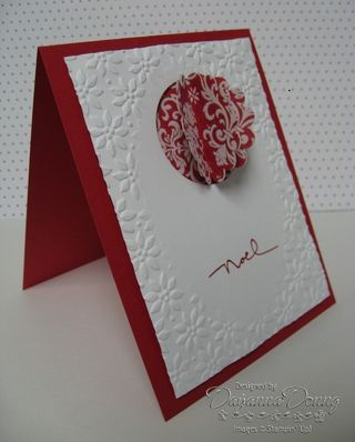 Christmas Cocoa Scallop Card