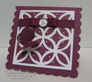 Scallop Square Rich Razzleberry