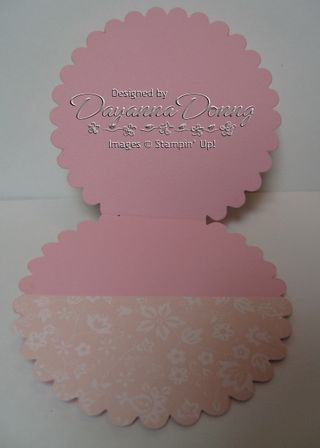 Flower Gift Card Open