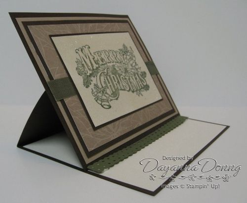 Holiday Postcard Easel Side