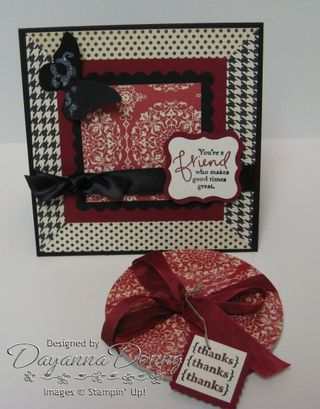 Coaster Love Letter and card