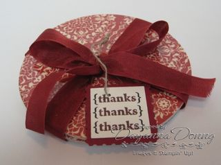 Coaster Love Letters ribbon