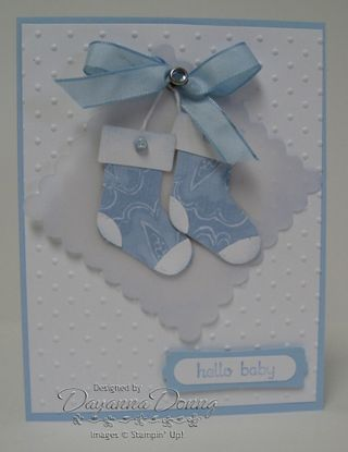 Stocking Punch Blue Vellum